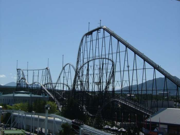 view fo roller coaster in japan