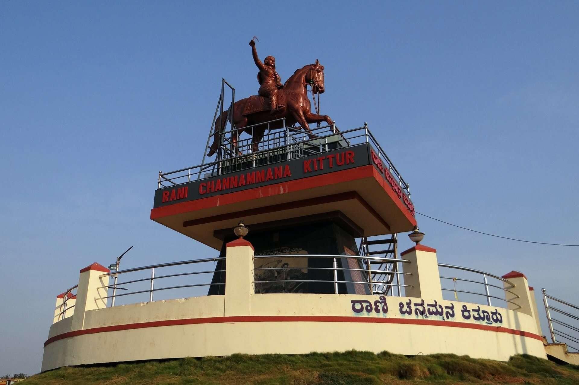 A statue of Rani Channammana Kittur in Belgaum, Karnataka