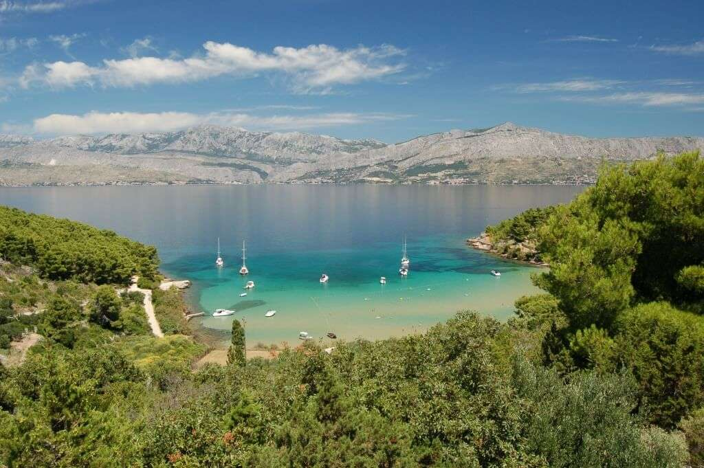 Lovrečina Bay Beach Croatia