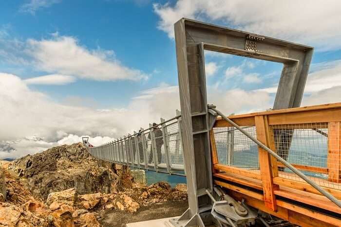view of the whistler suspension bridge canada