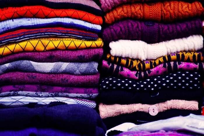 woolens in market