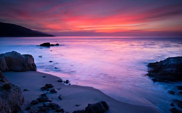sunset at Leo Carrillo State Beach