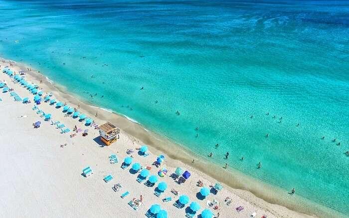 the gorgeous blue County Line Beach