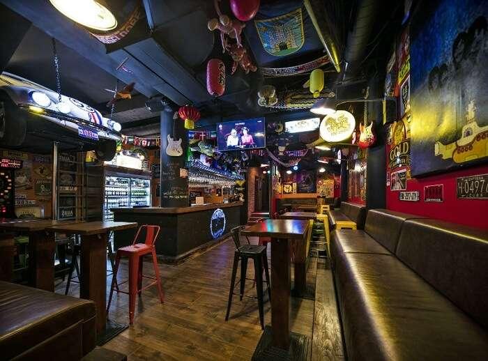 cozy bar spread over three floors