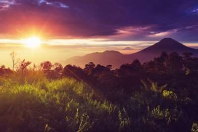 Java Island landscape in sunlight