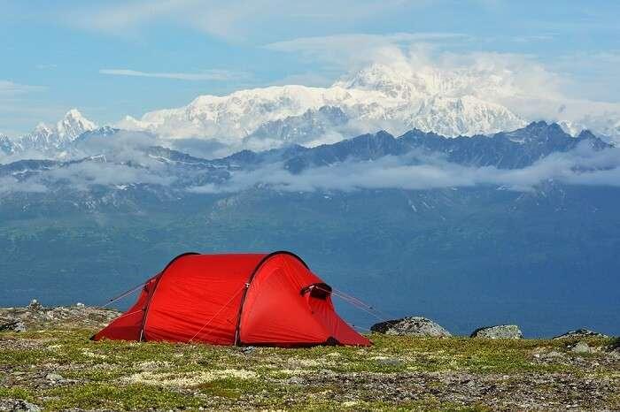 Camping at Denali