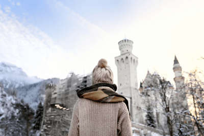 Woman looking at the view in Germany