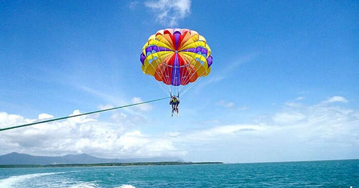 Parasailing in Maldives