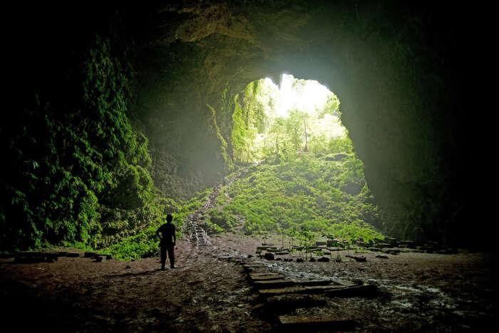 Goa Jomblang in Java Island of Indonesia