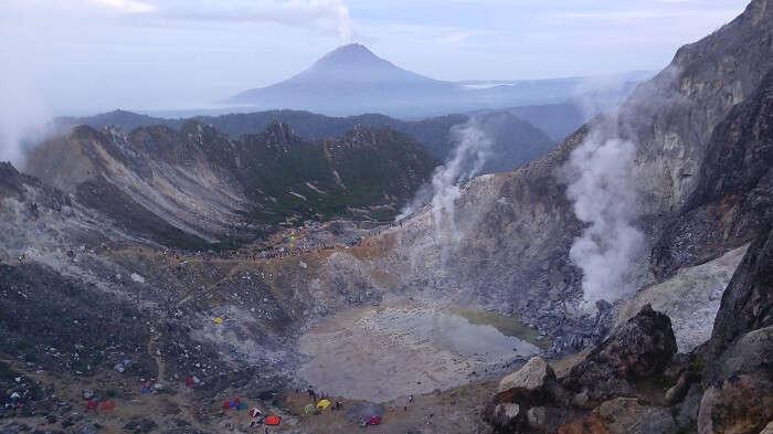 Sibyayak volcano