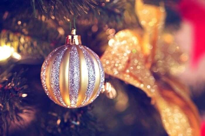 Gold Silver Tree Decorations Christmas Ornaments