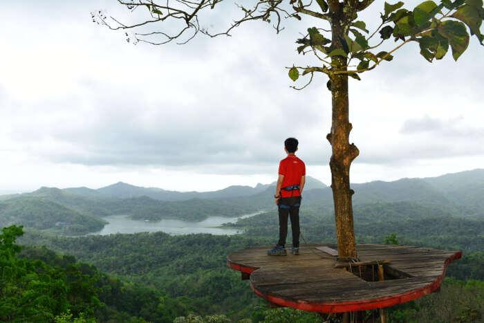 Kalibiru National Park in Java Island of Indonesia