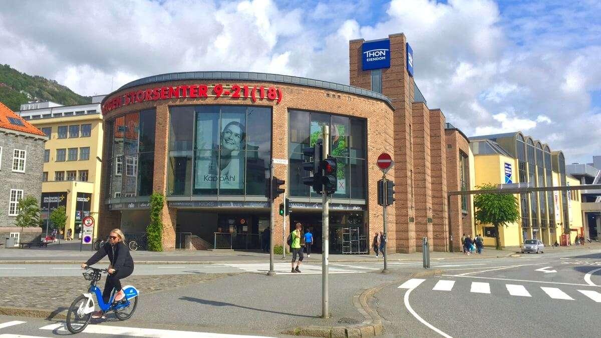 Bergen's shopping area
