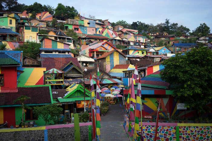 Rainbow Village in Java island of Indonesia