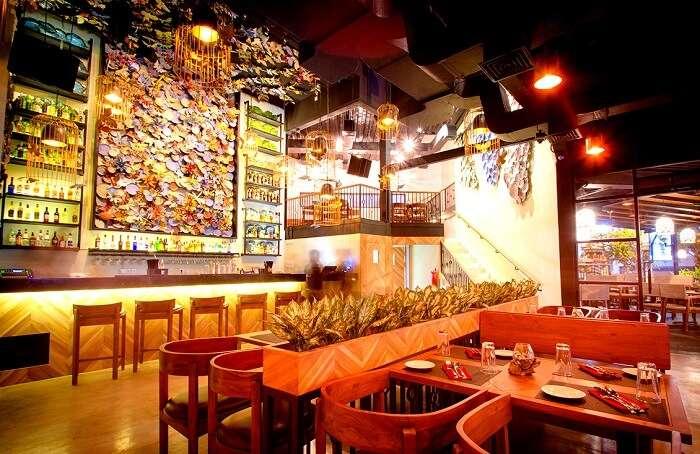 inside decor of Spice Mantra restaurant