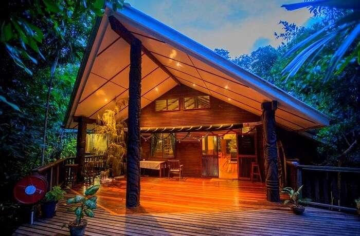 Tawali Resort sits on top of the volcano