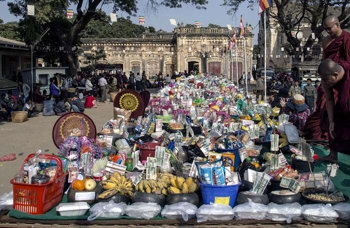 offerings outside the pagoda