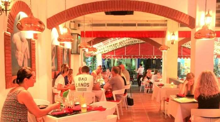 People dining at Colosseum Restaurant