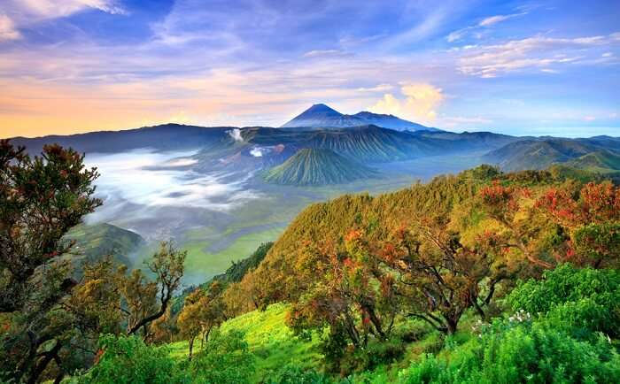 beautiful view of java island