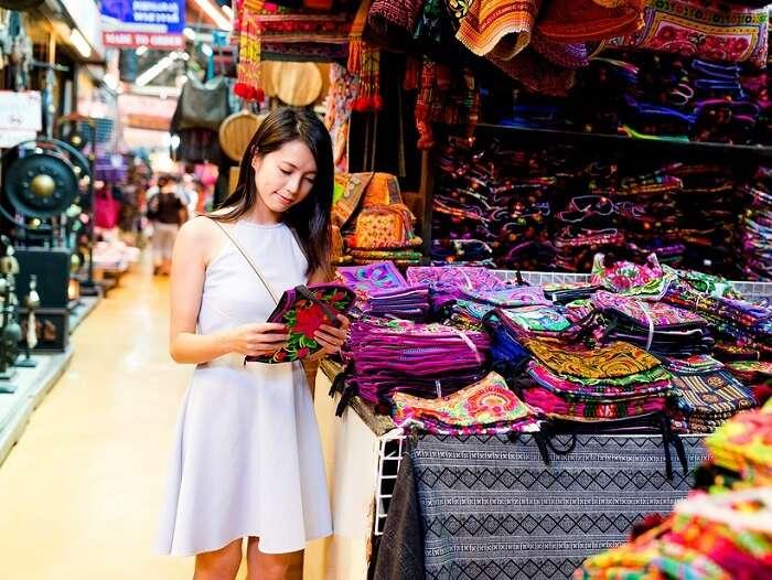 Girl shopping in Krabi