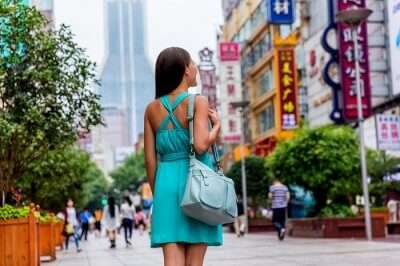 woman shopping in china