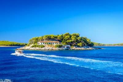 beautiful view of islands in croatia