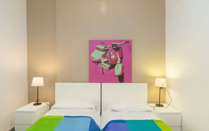 lovely hostel with a bright and vibrant decor