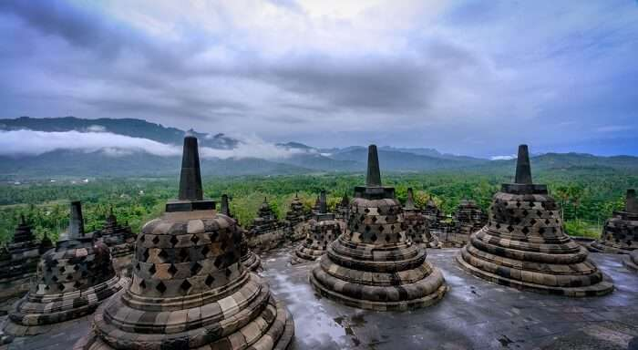 temple in rains