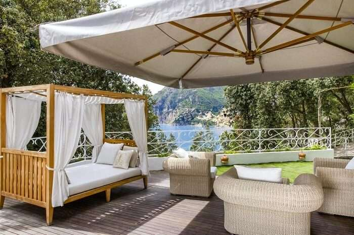 gorgeous view of nature from sant' andrea hotel