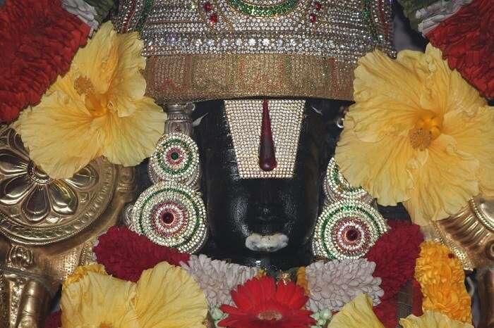 dedicated to Lord Venkateshwara - a form of Lord Vishnu