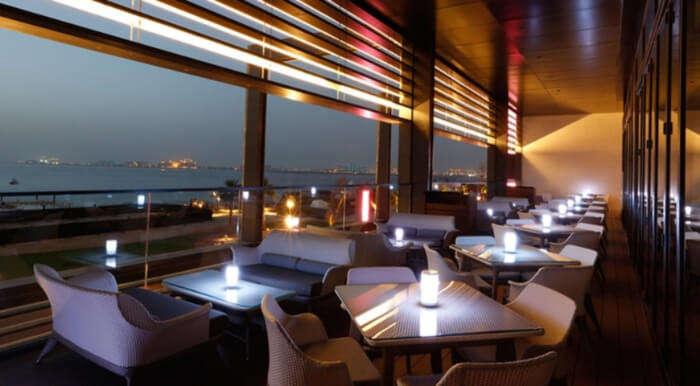 Elegant interiors and flavorful Emirati food