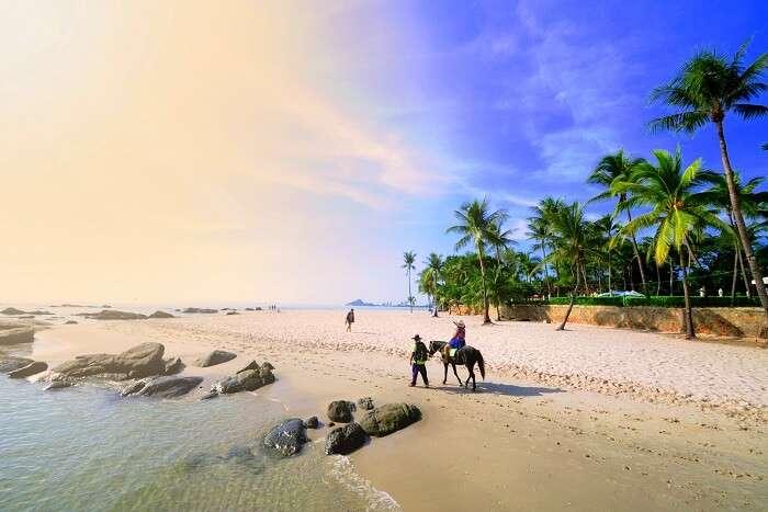 the beach in hua hin