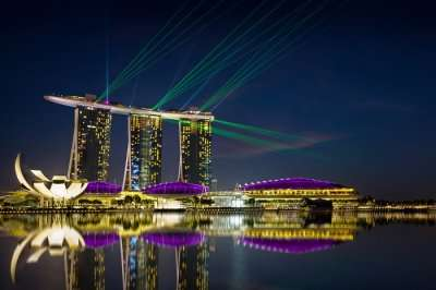 Marina Bay Sands water front