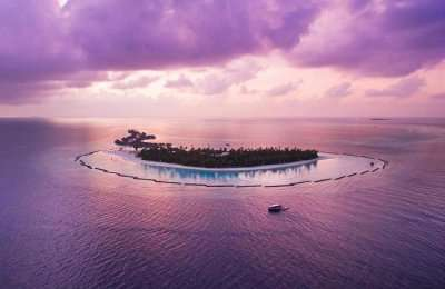 Halaveli Island Resort in the evening