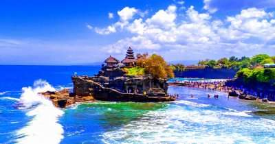 side view of famous temple bali