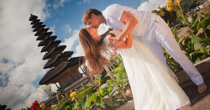 A wedding couple in Bali