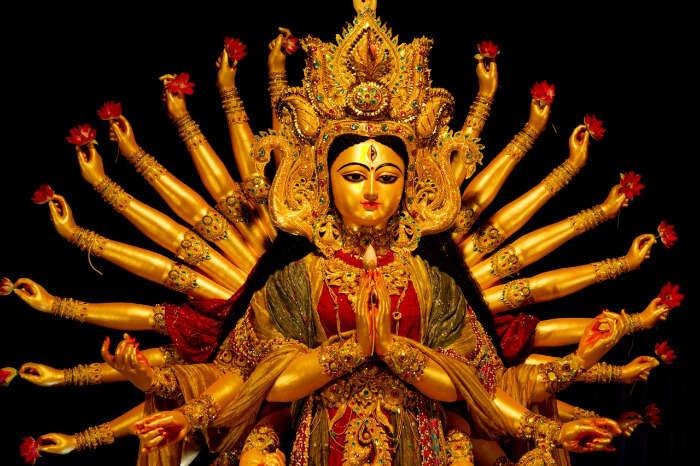 Goddess Durga's idol