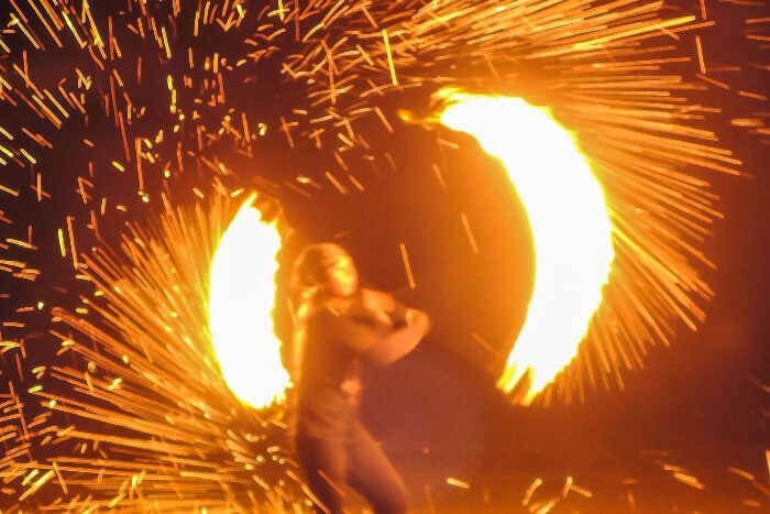 Fire show on Koh Lanta beach