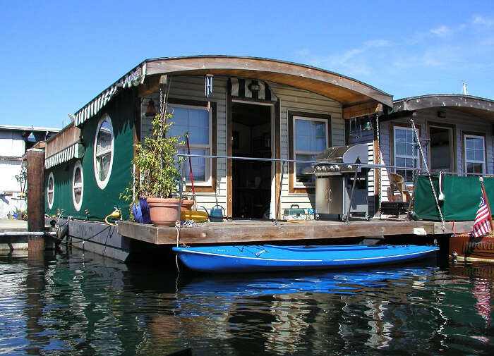 house made of boats