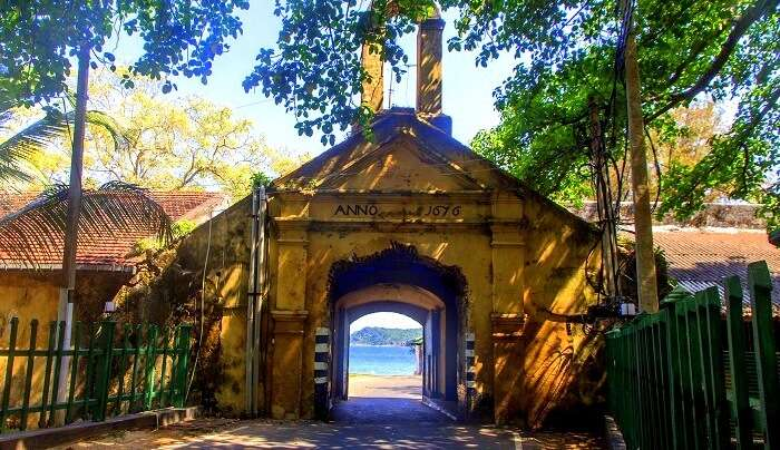 entrance of the fort