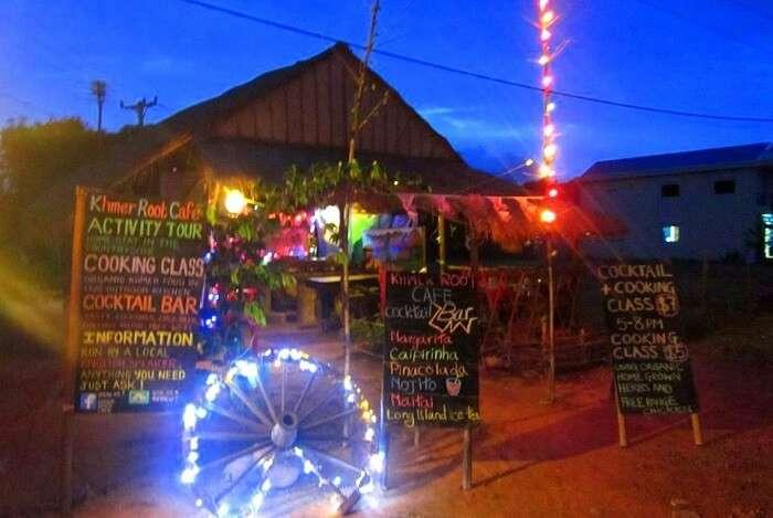 tropical hut cafe serving
