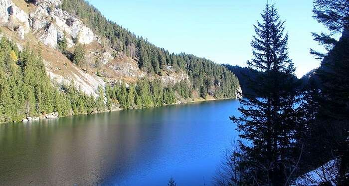 lake near a hiking spot