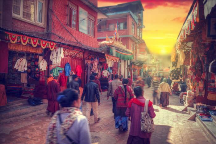 Shopping on the streets of Kathmandu