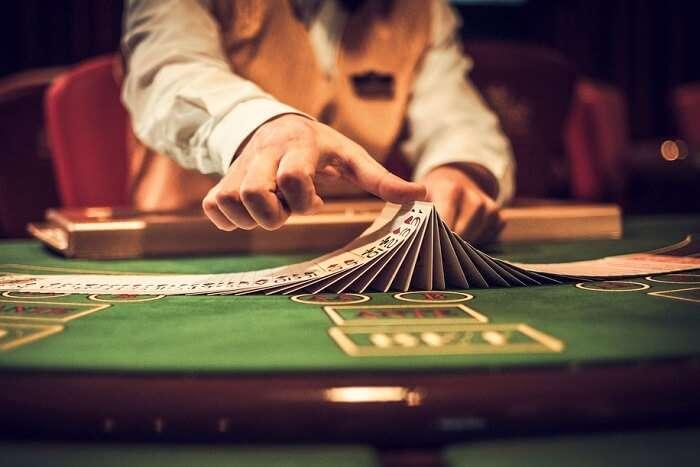 Playing poker in Silversea Shadow Casino