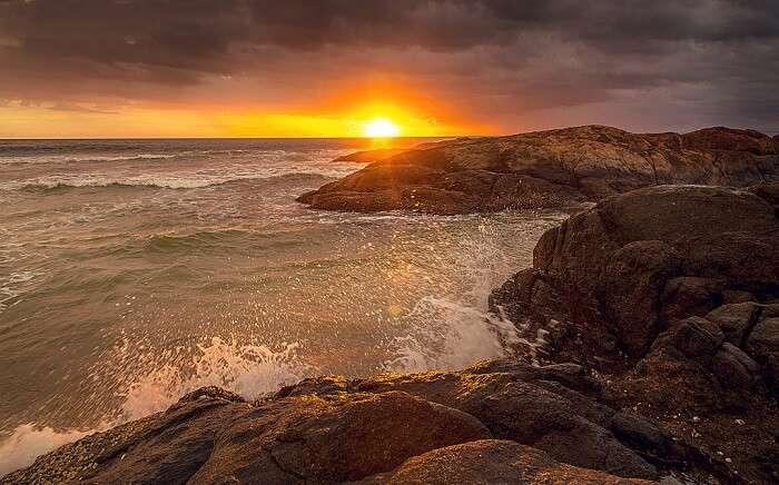Sunset at Bentota Beach
