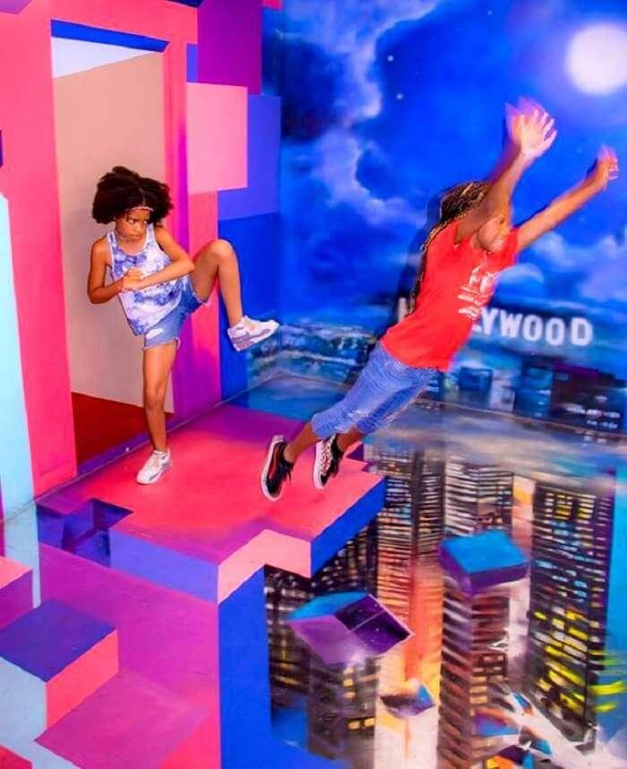 kids enjoying at the museum in Dubai