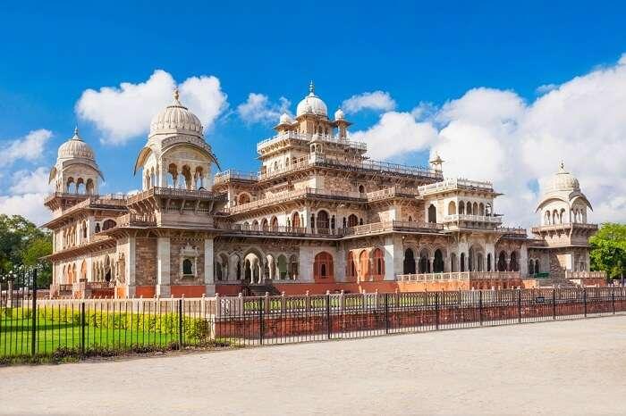 A beautiful shot of the Albert Hall Museum in Jaipur