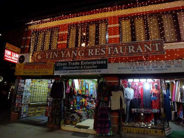 thamel night street
