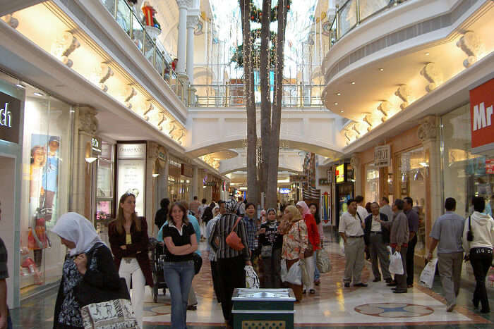 inside view of mall