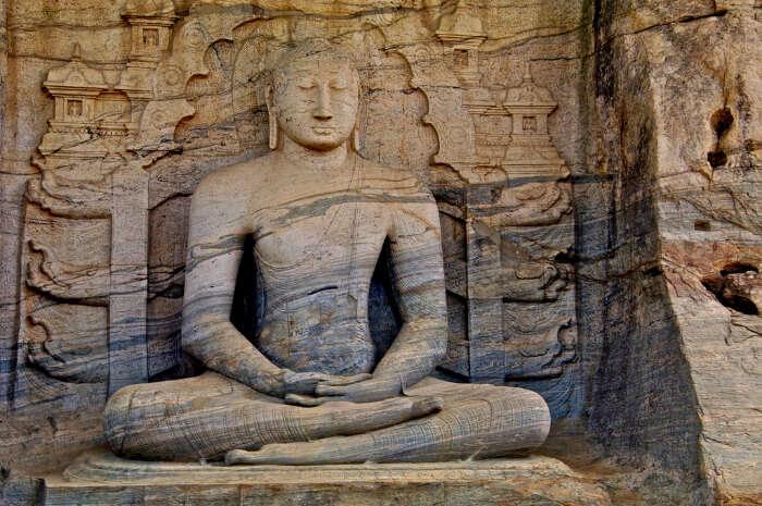 Buddha Statue at Gal Vihara in Polonnaruwa